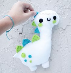 Personalized Dinosaur Plush - Make Your Own Plush - Cute Softie , Kawaii Plushie , Made to Order. $12.00, via Etsy.