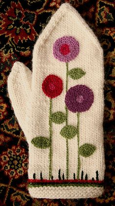 Ravelry: knit6185's Embroidered Mittens