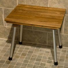 teak folding shower bench - Teak Shower Bench