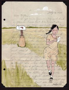 I love the idea of creating a new piece on an old letter