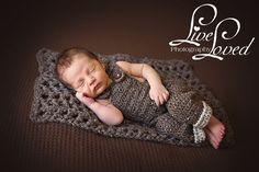 Download PDF crochet pattern s003 - Newborn overall