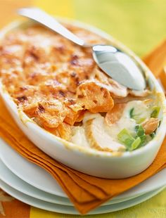 The Chicken and Carrot Gratin recipe out of our category Tropical Fruit! EatSmarter has over healthy & delicious recipes online. Hungarian Cuisine, Hungarian Recipes, Fish Recipes, Chicken Recipes, Snack Recipes, Philadelphia, Chicken Carbonara Recipe, Honey And Soy Sauce, Hot Cocoa Recipe