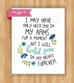 Stillborn Quotes Awesome 8X10 Remembrance Art Print  I Carried You Quote  Baby Girl Child