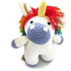 Flavia the Unicorn Stuffed Animal Crochet Pattern. $6.00