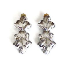 Givenchy Silver French Baroque Earrings - Chandelier Earrings, Statement Earrings, Dangle Drop, Couture Runway, Vintage Jewelry by zephyrvintage on Etsy
