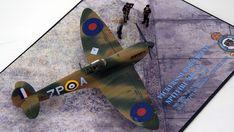 Supermarine Spitfire Mk.1a, P9953, ZP-A, No. 74 Squadron, Sq.-Ldr. D.F. Sailor Malan, RAF Battle of Britain, summer 1940 Science Fiction, Supermarine Spitfire, Battle Of Britain, Ldr, Scale Models, Sailor, Fighter Jets, Creative, Summer