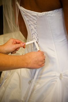 How to Put a Corset Back in a Wedding Dress