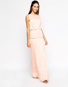Mango Double Layer Maxi Dress