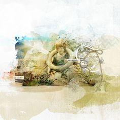 #artsy #scrapbook page by Katie Pertiet at DesignerDigitals.com