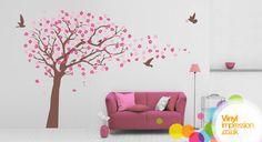 Cherry Blossom tree Blowing Vinyl Wall Sticker by Vinylimpression, £70.99