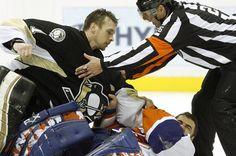 Goalie fights have to be the coolest thing on the planet.  LOVE Brent Johnson.