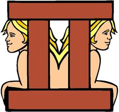 Gemini twins with the symbol.