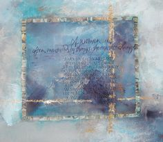 Barbara Close ~ calligraphy