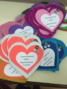 Magnet Annelerimize Kids Crafts, Quilling, Origami, Heart Tree, Diy Cards, Small Gifts, Card Stock, Blog, Presents