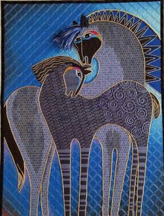Laurel Burch horses needlepoint canvas