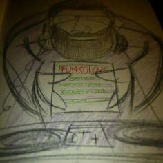 DJ Griz ; The Funkologist cica 2001 Pencil on 150 gm cartridge paper Artist - Griz