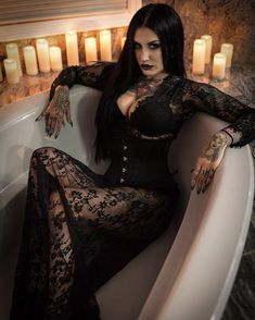 Gothic The Effective Pictures We Offer You About Little Black Dress A quality picture can tell you many things. You can find the most beautiful pictures that can be presented to you about Little Black Dark Beauty, Goth Beauty, Dark Fashion, Gothic Fashion, Latex Fashion, Steampunk Fashion, Emo Fashion, Darkness Girl, Hot Goth Girls