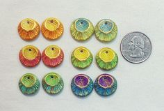 Rustic earring pairs in polymer clay - for sale.