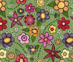 Juicy Floral fabric by doris