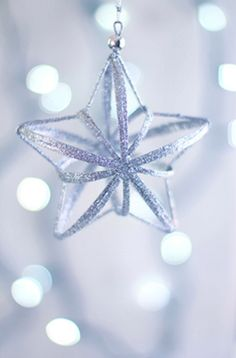 Most amazing glass star Christmas ornament I have ever seen!