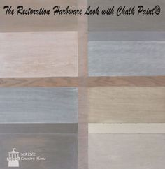 Restoration Hardware finishes with chalk paint