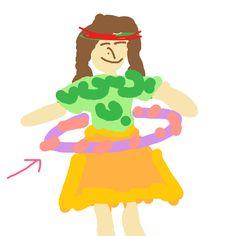 Hula hoop - with a Hawaiian girl :)