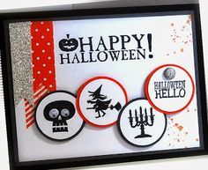 RECIPE: Stamps:  Halloween Hello, Seasonal Sayings, Gorgeous Grunge Paper: Tangerine Tango, Basic Gray and Basic Black, Whisper White, DSP S...