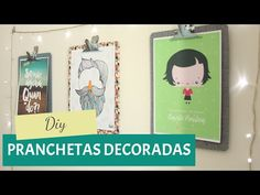 DIY - Pranchetas decorativas - YouTube