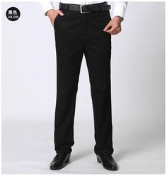 Men's casual pants brand classic full length Suit straight cotton business man thick commercial plus big size 40 42 trousers Business Casual Dresses, Business Casual Men, Mens Casual Brands, Men Casual, Formal Suits, Cotton Pants, Dress Pants, Casual Pants, Trousers