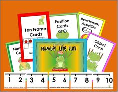 Leap Frog's Number Line Fun! Numbers 1 to 20 - My Leap Frog's Number Line Fun! is a fantastic set of cards and NUMBER LINE POSTER to get your students learning numbers. It is perfect for your bulletin board and math centers as students get to play and interact with numbers in all different aspects.