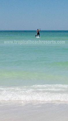 Paddle boarding on a beautiful sunny day! visit Siesta Key!