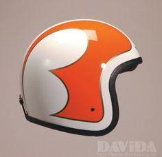 Davida speedster Helmets:  Complex Cream B Orange Gold  Product Code: 90542
