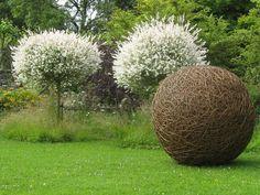 Giant willow ball sculpture.