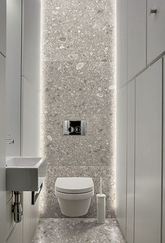 Small toilet room - 31 beautiful half bathroom ideas for your home 12 Bad Inspiration, Bathroom Inspiration, Bathroom Ideas, Bathroom Designs, Bathroom Renovations, Beautiful Bathrooms, Modern Bathroom, Bathroom Black, Serene Bathroom