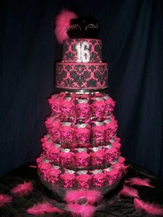 themed cakes   Sweet 16 - Masquerade theme