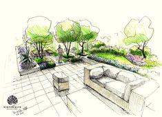 Terrace garden. Gardens, Garden Design, Landscape Design, Gardening, Tuinen, Jardin, Modern gardens, Formal gardens, 庭, trädgård, 花园, hage, hortus, giardino, сад, haver, ogród, κήπος, jardim, Bāgh, bahçe, garten Happy pinning