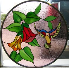 J&M Stained Glass, North Myrtle Beach, SC - Hummingbird.