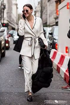 pajama inspired pant suit