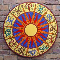 auditory-hallucinations:  Sun signs zodiac mosaic chart by Brett Campbell