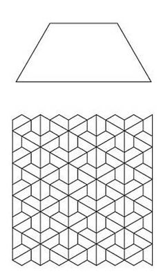 Free English Paper Piecing Half Hex Layout 2 Pattern