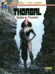 """""""Kriss de Valnor"""" (""""Thorgal""""), de Grzegorz Rosinski y Jean Van Hamme. Editado por Norma."""