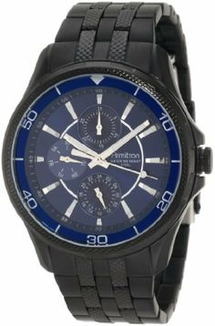 Armitron Men's 20/4701BLTI Black Ion-Plated Stainless-Steel Blue Multi-Function Dial Dress Bracelet Watch Armitron. $67.49