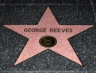 George Reeves' star (Brent Tarleton) on the Hollywood Walk of Fame. His star is located at 6709 Hollywood Blvd. Born George Keefer Brewer on Jan. 1914 in Woolstock, IA. Died June 1959 of suicide in Beverly Hills, Calif. First Superman, Superman Movies, Superman Stuff, Hollywood Star Walk, Hollywood Boulevard, Classic Hollywood, George Reeves, Steve Reeves, Milburn Stone