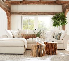Pottery Barn Living Rooms Decor For 179 Best Design Trend Classic Images Room Guest Reclaimed Wood Stump Table