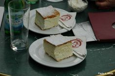 "Hungarian Kremes or ""the Creamy"" (but more accurately vanilla Custard Square) is a light custard cream cake beloved of Hungarian Coffee shops. #Hungarian desserts"