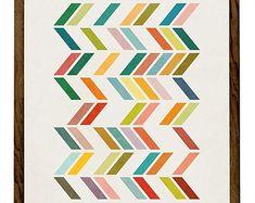 Art abstrait et minimaliste géométrique Estampe par OhFinale