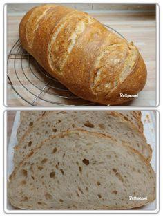 Egyszerű kovászos kenyér – Alaprecept   Betty hobbi konyhája Bakery, Bread, Dishes, Food, Pizza, Kitchen, Home, Baking Center, Plate