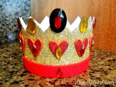 Recycled Plastic Container Queen of Hearts Crown made from a sour cream container.