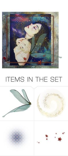 """""""Angel of the evening"""" by glitterlady4 ❤ liked on Polyvore featuring art"""