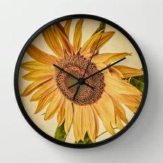 Vintage Sunflower Wall Clock by Edward M. Fielding - $30.00